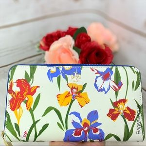 Emerson continental painted iris wallet Tory Burch